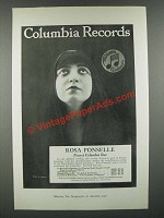 1919 Columbia Records Ad - Featuring a photo by Lumiere of Rosa Ponselle