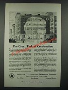 1919 American Telephone and Telegraph Company Ad - Great Task of Construction