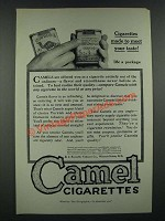 1919 Camel Cigarettes Ad - Made to Meet Your Taste