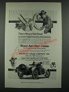 1919 American Chain Company Weed Anti-Skid Chains Ad - What A Skid Does