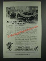 1919 American Chain Company Weed Tire Chains Ad - It's Not Power It's Traction