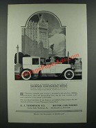 1919 E.J. Thompson Custom-Built Bodies Ad  The Plaza Brougham