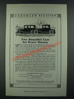 1919 Chandler Cars Ad - Two Beautiful Cars for Every Season