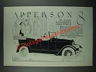 1919 Apperson 8 Car Advertisement - The Eight With Eighty Less Parts