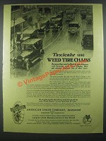 1919 American Chain Company Weed Tire Chains Ad - Taxicabs Use