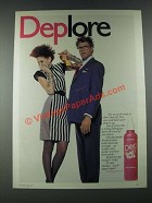 1987 Dep Sculpt & Hold Ad - Deplore