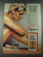 1987 Sally Hansen Natural Cold Wax Hair Remover Ad - The Hottest New Idea