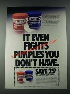 1987 Stridex Pads Ad - It Even Fights Pimples You Don't Have