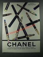1987 Chanel Double Couleur French Accents Ad