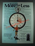 1987 NordicTrack Exerciser Ad - Bill Koch - More With Less