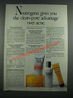 1987 Neutrogena Acne Mask, Acne Cleansing Bar, Acne Drying Gel, Moisture Ad