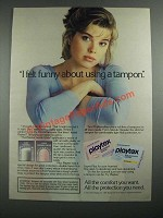 1987 Playtex Tampons Ad - I Felt Funny About Using a Tampon