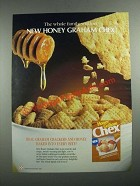 1987 Ralston Honey Graham Chex Cereal Ad - The Whole Family Will Love