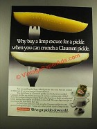 1987 Claussen Pickles Ad - Why Buy a Limp Excuse