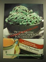 1987 General Foods International Coffees Dutch Chocolate Mint Ad