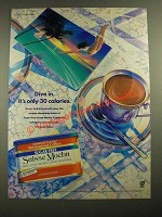 1987 General Foods International Coffees Suisse Mocha Ad - Dive In