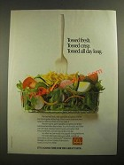 1987 McDonald's Salads Ad - Tossed Fresh Tossed Crisp Tossed All Day Long