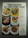 1987 National Pork Producers Council Ad - Have You Tried the Other White Meat?