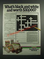 1987 Hormel Deli Foods Ad - What's Black and White and Worth $10,000?