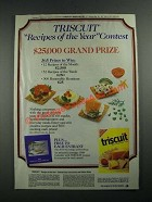 1987 Nabisco Triscuit Crackers Ad - Recipes of the Year