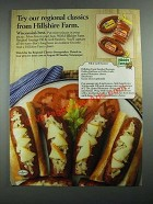 1987 Hillshire Farm Sausage Ad - Try Our Regional Classics