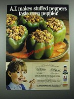 1987 A1 Sauce Ad - A.1. Savory Stuffed Peppers recipe