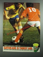 1987 Gatorade Drink Ad - Thirsty Kids Need
