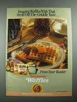 1987 Aunt Jemima Waffles Ad - Fresh-Off-The-Griddle Taste