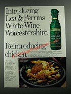 1987 Lea & Perrins White Wine Worcestershire sauce Ad