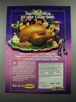 1987 Butterball Turkey Ad - Two Fresh Ideas For Your Easter Table