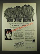 1987 Lands' End Drifter Cotton Sweater Ad - If You're Not Sure