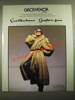 1987 Grosvenor Cognac New Zealand Opossum Coat Fur Ad