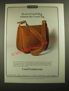 1987 Coach Bag Ad - It's Not a Coach Bag, Without the Coach Tag
