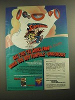1987 Fruit of the Loom Funpals and Underoos Underwear Ad - Superman