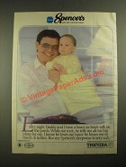1987 Spencer's Sleepwear Ad - Baby and Children's Wear