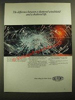 1987 Du Pont Products Ad - Shattered Windshield and Shattered Life