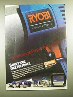 1987 Ryobi Power Tools Ad - Satisfy Your Urge for Power