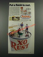 1987 True Value Tru-Test X-O Rust Paint Ad - Put a Finish to Rust