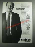 1987 Unisys Computer Systems Ad - See Those Seats in a New Way