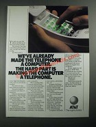 1987 AT&T Telephone Ad - Made the Telephone a Computer