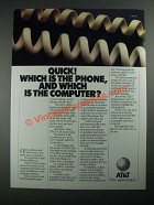 1987 AT&T Telephone Ad - Quick! Which Is The Phone, Which The Computer