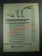 1987 New York Telephone Ad - Get ISDN Straight From The Source