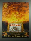 1987 Red Man Golden Blend Tobacco Ad - The Dawn of Golden Blend
