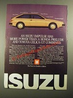 1987 Isuzu Impulse Ad - More Power Than a Honda Prelude