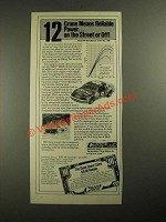 1987 Crane Cams Ad - Means Reliable Power On the Street or Off