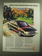 1988 Buick Park Avenue Ad - Make Every Road Feel Like a Park Avenue