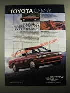 1987 Toyota Camry Ad - Reliability Never Looked So Good
