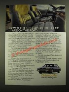 1987 Oldsmobile Touring Sedan Ad - Now The Best Seats in The House