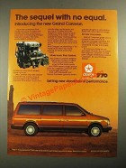 1987 Dodge Grand Caravan Ad - The Sequel With No Equal