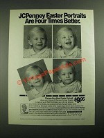 1987 JCPenney Portrait Studio Ad - Easter Portraits Four Times Better